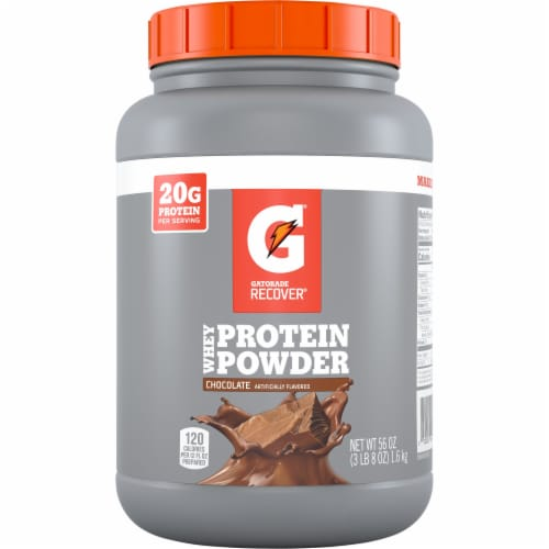 Gatorade Recover Chocolate Whey Protein Powder Perspective: front