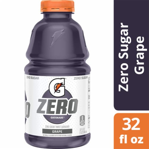 Gatorade G Zero Sugar Grape Electrolyte Enhanced Sports Drink Perspective: front