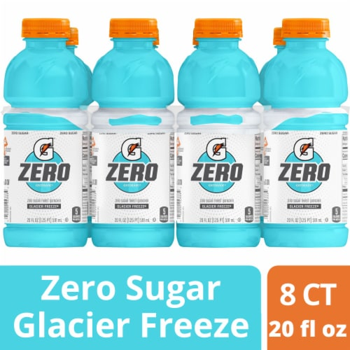 Gatorade G Zero Sugar Glacier Freeze Electrolyte Enhanced Sports Drinks Perspective: front