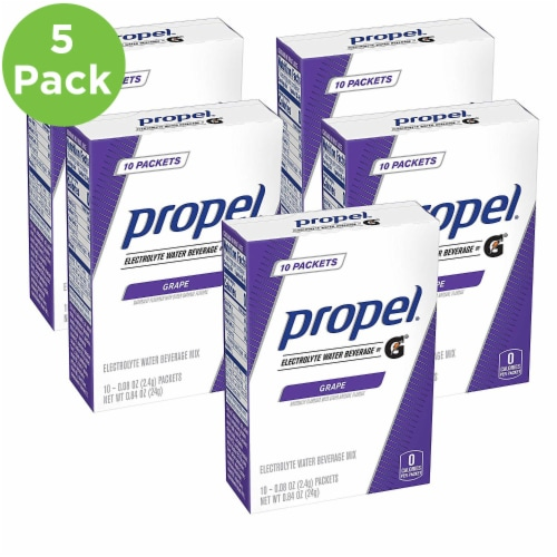 Propel Grape Protein Powder (5 Pack) Perspective: front