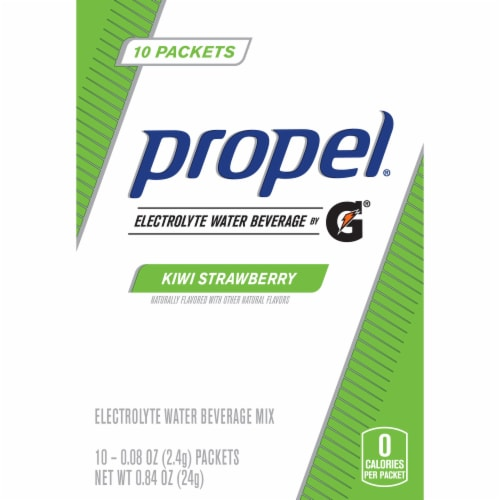Propel Kiwi Strawberry Electrolyte Water Beverage Mix Perspective: front