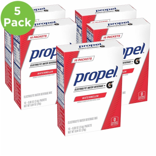 Propel Watermelon Electrolyte Water Beverage Mix 50 Count Perspective: front