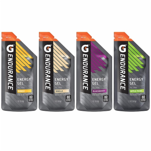 Gatorade Endurance Energy Gel Variety Pack 12 Count Perspective: front