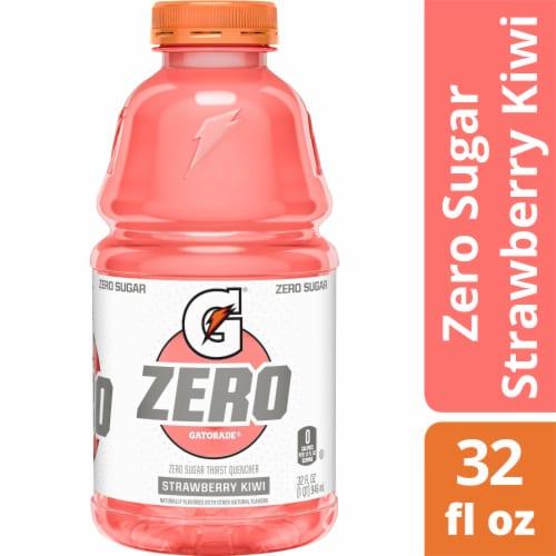 Gatorade Zero Strawberry Kiwi Zero Sugar Electrolyte Enhanced Sports Drink Perspective: front