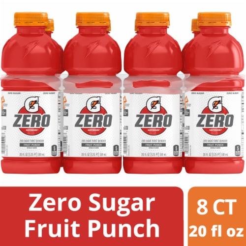 Gatorade G Zero Sugar Fruit Punch Electrolyte Enhanced Sports Drinks Perspective: front