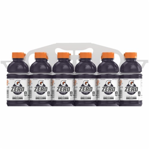 Gatorade G Zero Sugar Grape Electrolyte Enhanced Sports Drinks Perspective: front