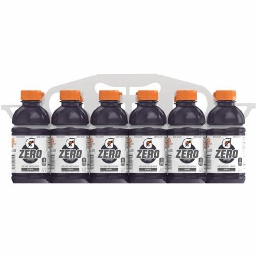 Gatorade G Zero Sugar Grape Electrolyte Enhanced Sports Drinks Perspective: front