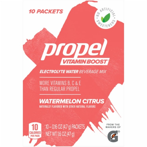 Propel Vitamin Boost Watermelon Citrus Electrolyte Enhanced Water Mix Perspective: front