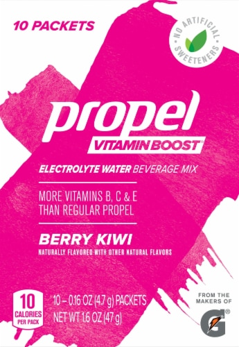 Propel Vitamin Boost Berry Kiwi Electrolyte Enhanced Water Mix Perspective: front