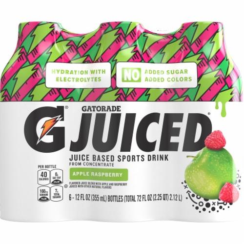 Gatorade Juiced Apple Raspberry Juice Based Sports Drinks Perspective: front