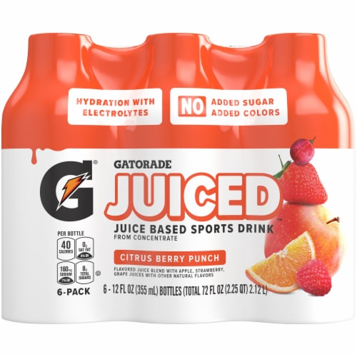 Gatorade Juiced Citrus Berry Punch Juice Based Sports Drinks Perspective: front