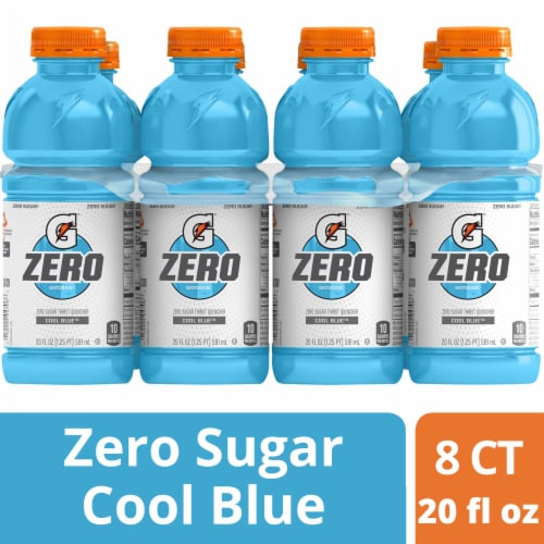 Gatorade Zero Thirst Quencher Cool Blue Sports Drink Perspective: front