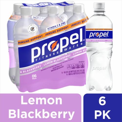 Propel Lemon Blackberry Immune Support Electrolyte Water Beverage Perspective: front