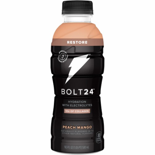 Bolt24 Peach Mango Hydration with Electrolytes Perspective: front