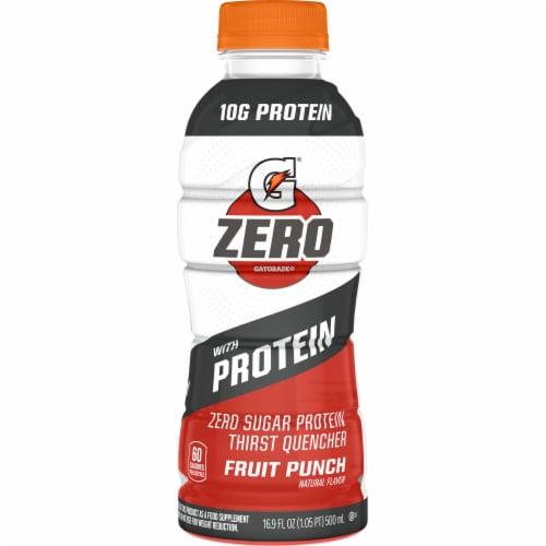 Gatorade Zero Fruit Punch Zero Sugar Protein Thirst Quencher Sports Drink Perspective: front