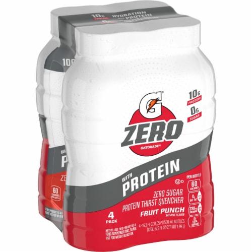 Gatorade Zero Fruit Punch Zero Sugar Protein Thirst Quencher Perspective: front