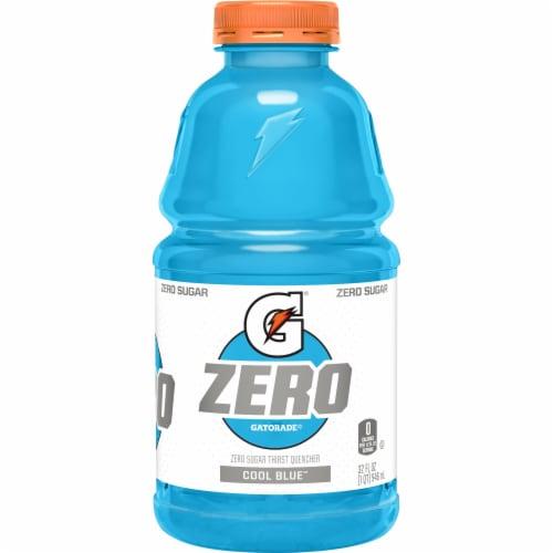 Gatorade Zero Sugar Thrist Quencher Cool Blue Sports Drink Perspective: front
