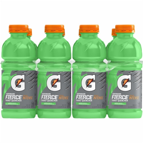 Gatorade Fierce Green Apple Thirst Quencher Sports Drinks Perspective: front