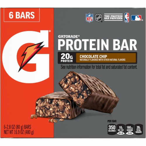 Gatorade Chocolate Chip Whey Protein Bars Perspective: front
