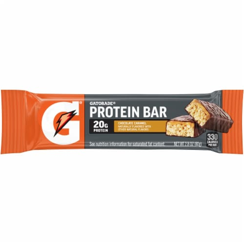 Gatorade Fuel Bar Chocolate Caramel Whey Protein Bars Perspective: front