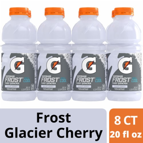 Gatorade Frost Thirst Quencher Glacier Cherry Electrolyte Enhanced Sports Drinks Perspective: front