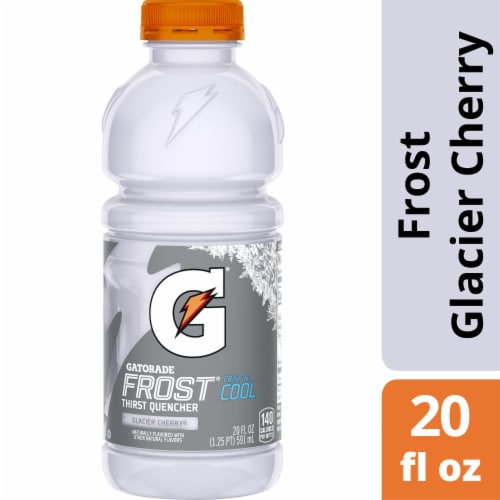 Gatorade Thirst Quencher Glacier Cherry Electrolyte Enhanced Sports Drink Perspective: front