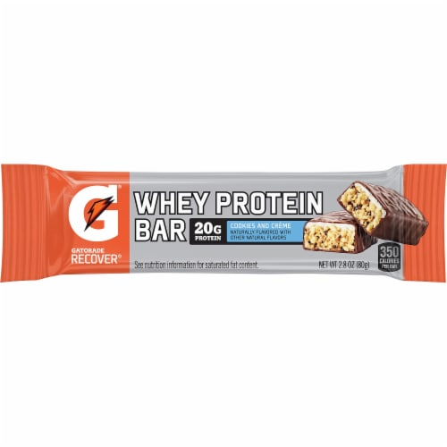 Gatorade Recover Cookies & Creme Whey Protein Bar Perspective: front