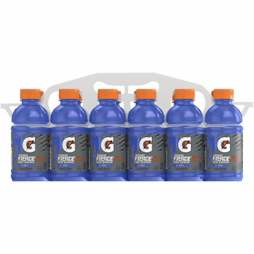 Gatorade Thirst Quencher Fierce Grape Electrolyte Enhanced Sports Drinks Perspective: front