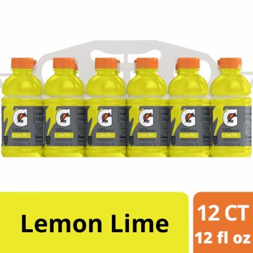 Gatorade G Lemon Lime Electrolyte Enhanced Sports Drink Perspective: front