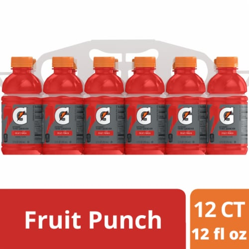 Gatorade G Fruit Punch Electrolyte Enhanced Sports Drink Perspective: front