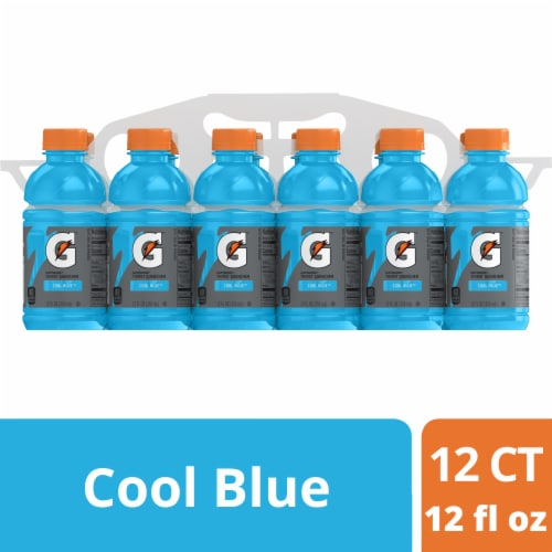 Gatorade G Cool Blue Electrolyte Enhanced Sports Drink Perspective: front