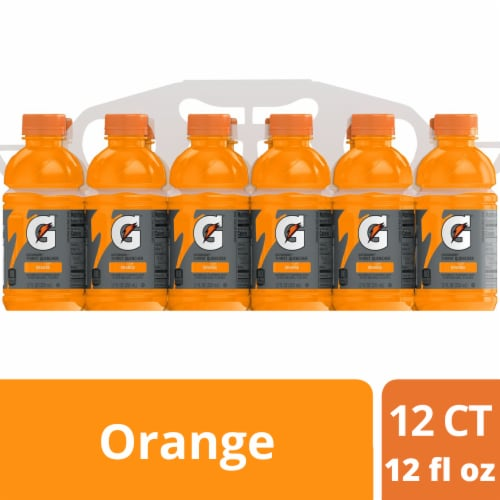 Gatorade Thirst Quencher Orange Sports Drink Perspective: front