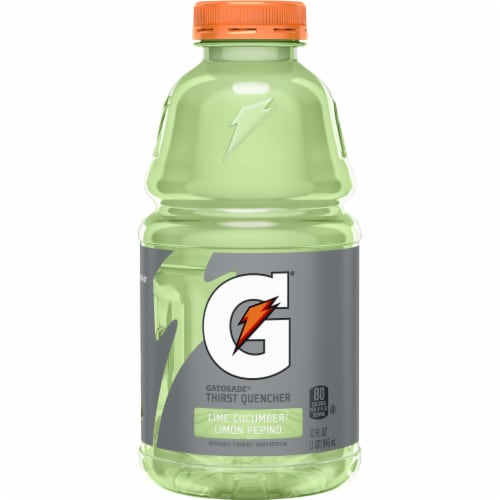 Gatorade Thirst Quencher Lime Cucumber Electrolyte Enhanced Sports Drink Perspective: front