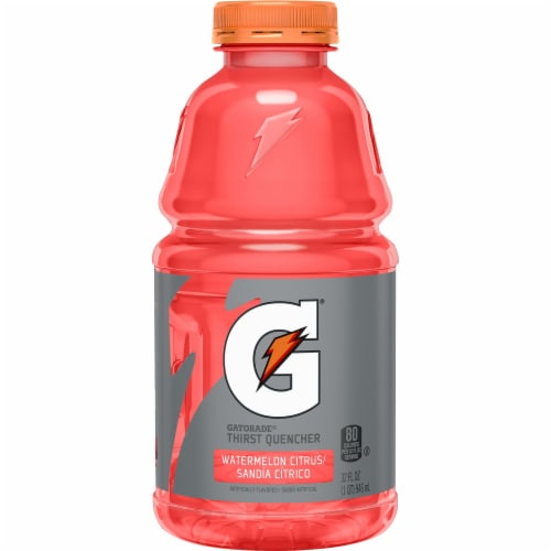 Gatorade Thirst Quencher Watermelon Citrus Electrolyte Enhanced Sports Drink Perspective: front