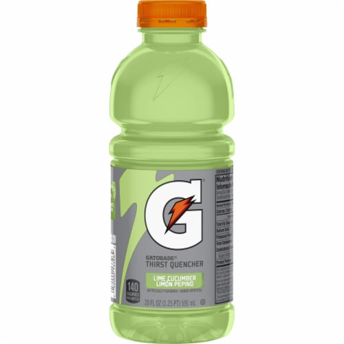 Gatorade Thirst Quencher Lime Cucumber Sports Drink Perspective: front