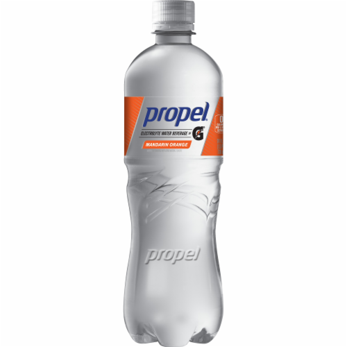 Propel Orange Water Zero Calorie Sports Drink Enhanced with Electrolytes Perspective: front