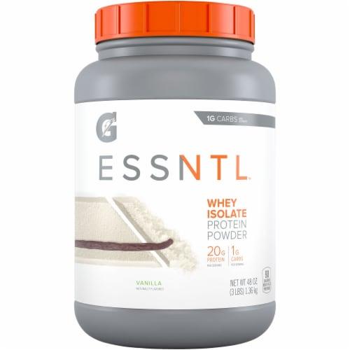 Gatorade ESSNTL Protein Whey Isolate Vanilla Powder Perspective: front