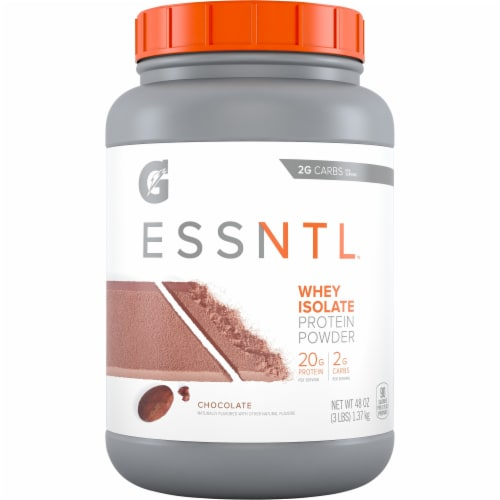 Gatorade ESSNTL Whey Isolate Chocolate Protein Powder Perspective: front