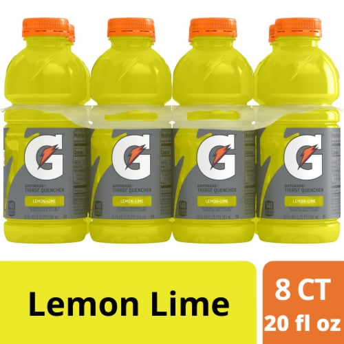 Gatorade Thirst Quencher Lemon Lime Sports Drink Perspective: front