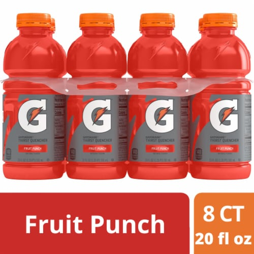 Gatorade Thirst Quencher Fruit Punch Sports Drinks Perspective: front