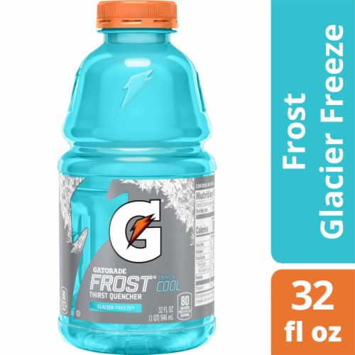 Gatorade Frost Thirst Quencher Glacier Freeze Sports Drink Perspective: front