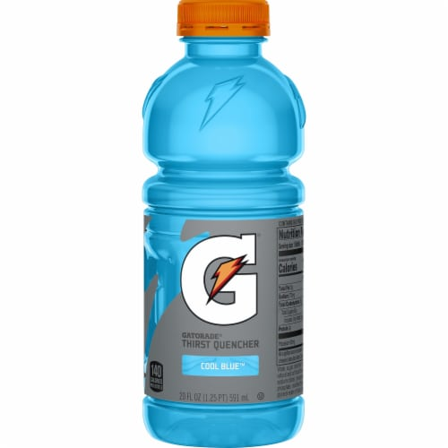Gatorade Thirst Quencher Cool Blue Electrolyte Enhanced Sports Drink Perspective: front