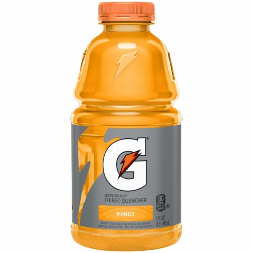 Gatorade Thirst Quencher Mango Electrolyte Enhanced Sports Drink Perspective: front