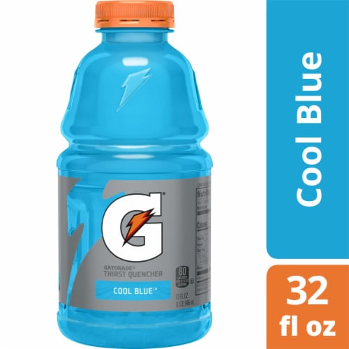 Gatorade Thirst Quencher Cool Blue Sports Drink Perspective: front