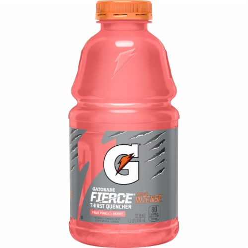 Gatorade Thirst Quencher Fruit Punch with Berry Electrolyte Enhanced Sports Drink Perspective: front