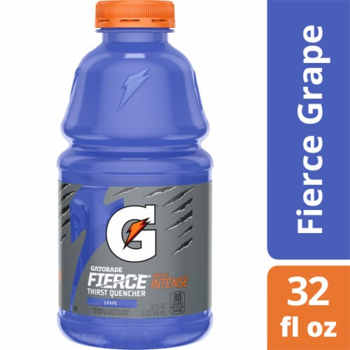 Gatorade Thirst Quencher Grape Electrolyte Enhanced Sports Drink Perspective: front