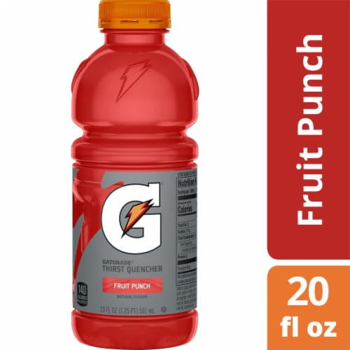 Gatorade® Thirst Quencher Fruit Punch Electrolyte Enhanced Sports Drink Perspective: front