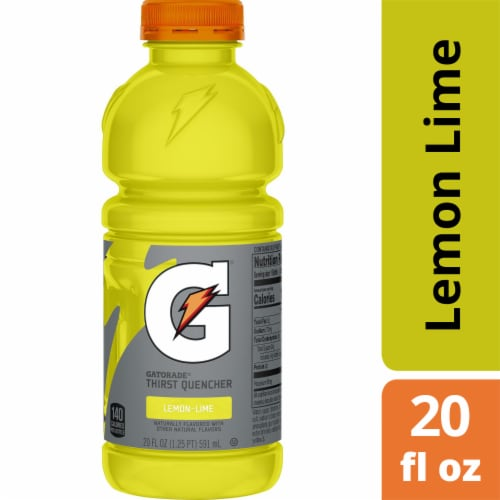 Gatorade Thirst Quencher Lemon Lime Electrolyte Enhanced Sports Drink Perspective: front