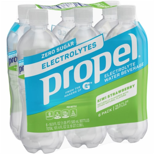 Propel Kiwi Strawberry Water Zero Calorie Sports Drink with Electrolytes Perspective: front