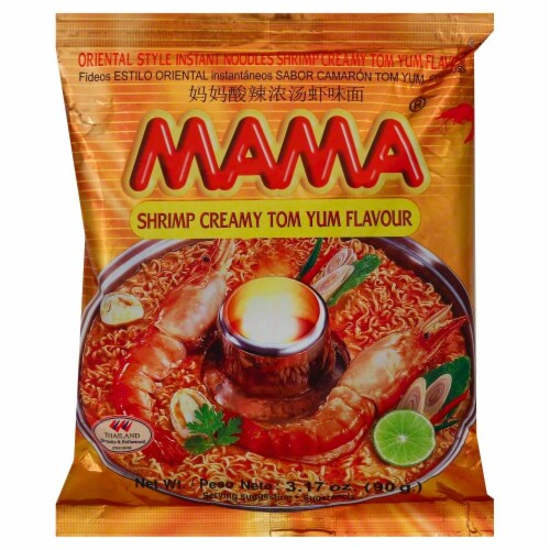 Mama Instant Noodle Creamy Tom Yum Shrimp Perspective: front